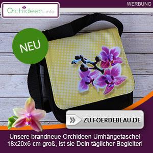 Tolle Umhängetasche mit Orchideen-Motiv