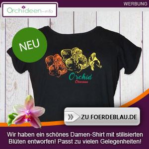 Orchideen Damen-Shirt mit Blüten