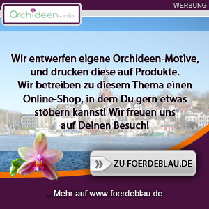 Tolle Produkte mit Orchideen-Motiven auf www.foerdeblau.de